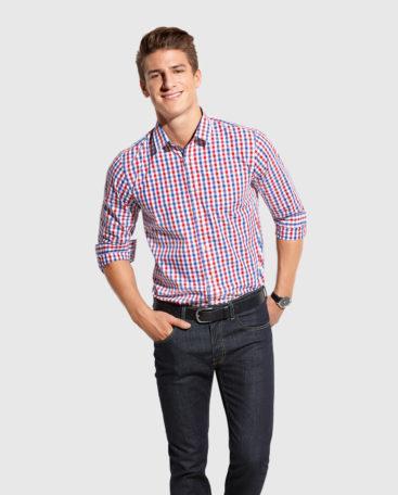Męska koszula w kratkę